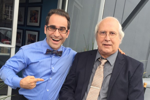 "Ben Giroux films ""The Apprentice"" with Chevy Chase"